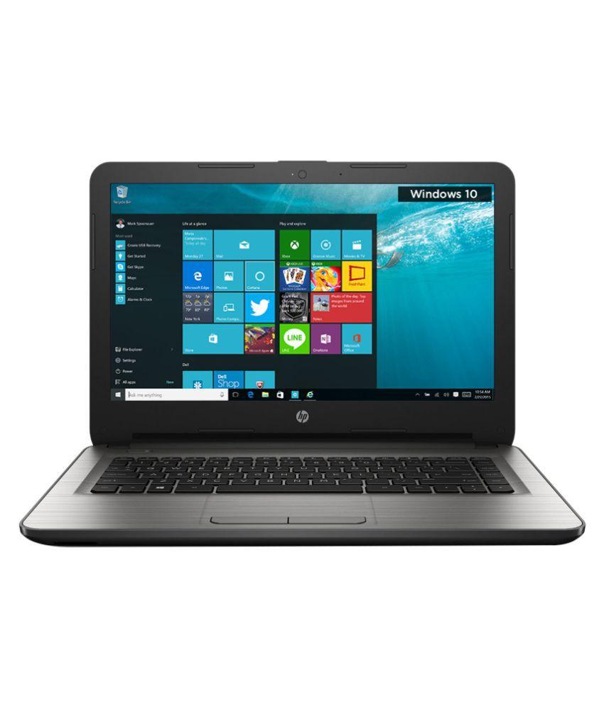 HP 14-AM081TU Notebook (6th Generation Intel Core i5- 4GB RAM- 1TB HDD- 35.56 cm (14)- Windows 10) (Silver)