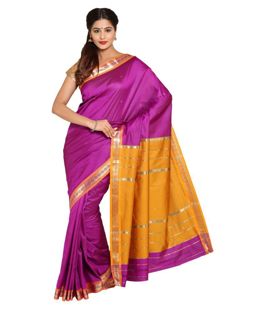 Parchayee Purple Art Silk Saree