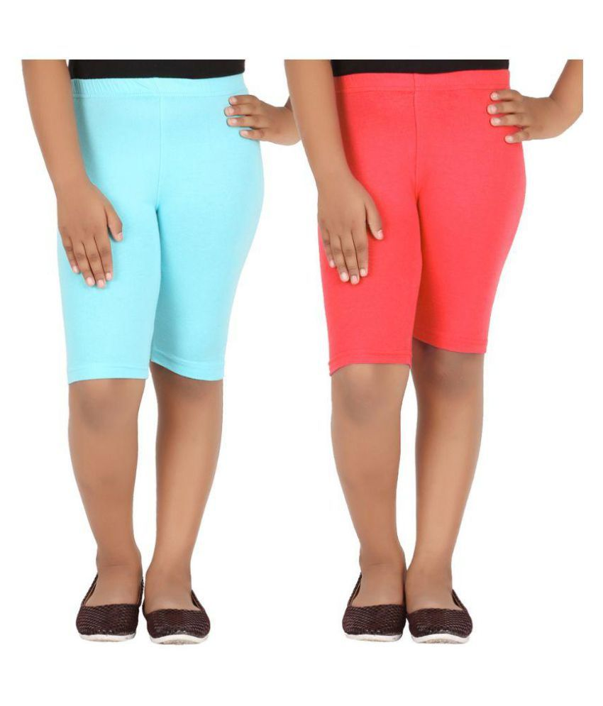 Knit ABC Multicolor Cotton Shorts - Pack of 2