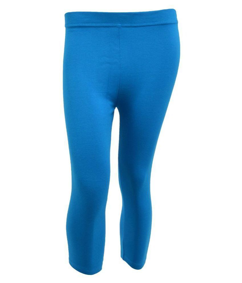 Tanus Blue Cotton Capri