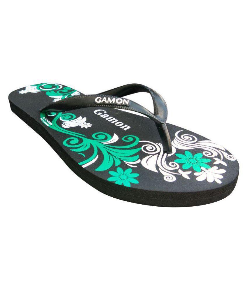Gamon Black Slippers