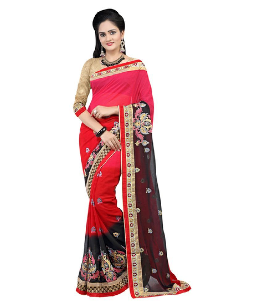 10der Multicoloured Chiffon Saree