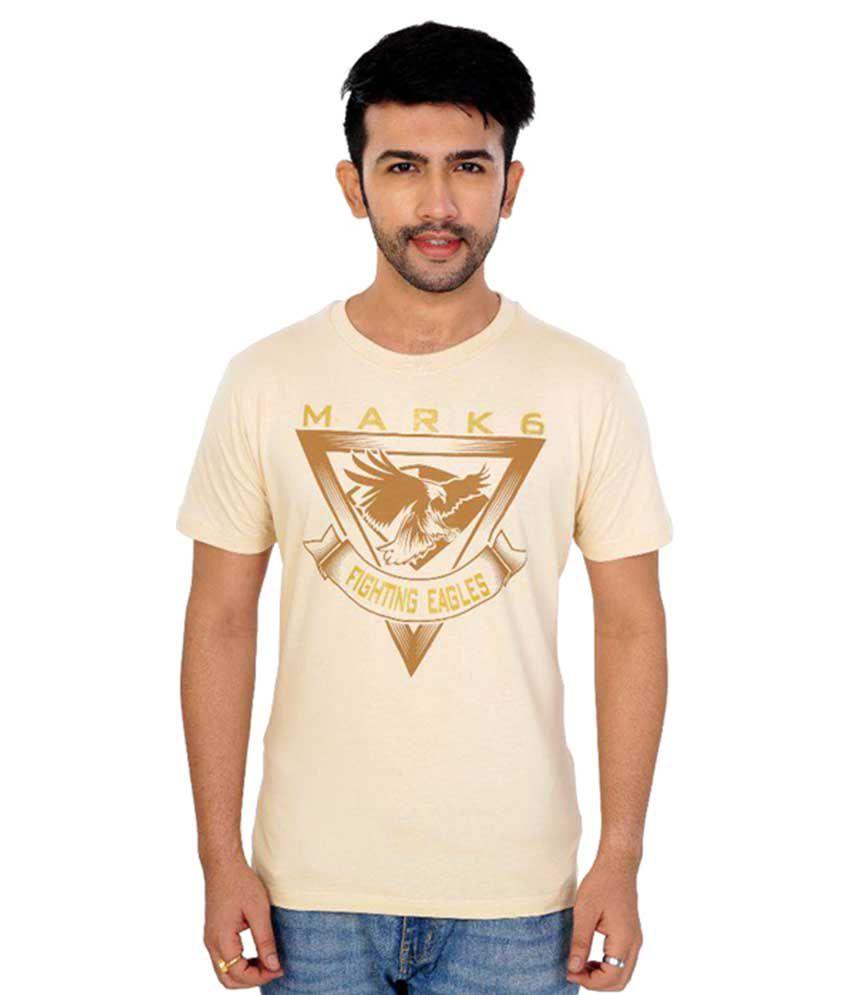 Mark6 Beige Round T-Shirt