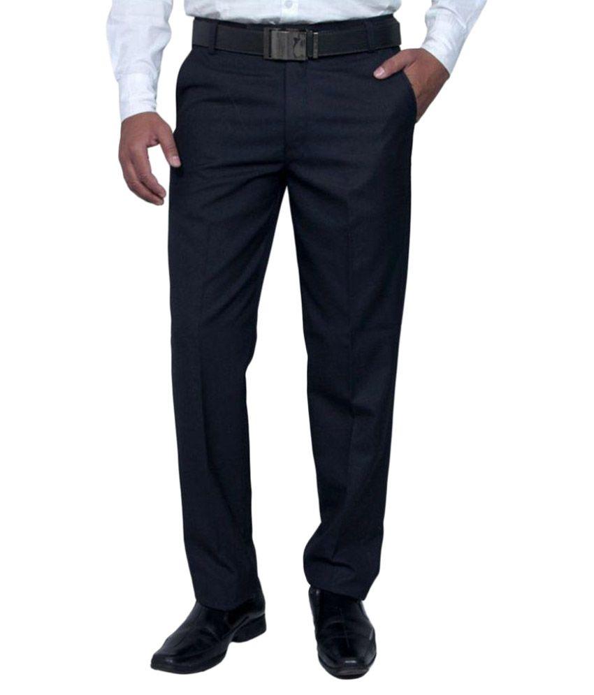 Vandnam Fabrics Black Regular Pleated Trouser