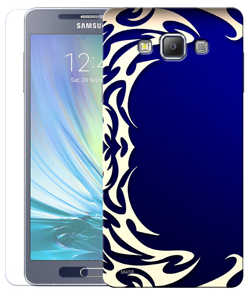 Finest Combo of Abstract Art HD UV Printed Mobile Back Cover and Tempered Glass For Samsung Galaxy A5