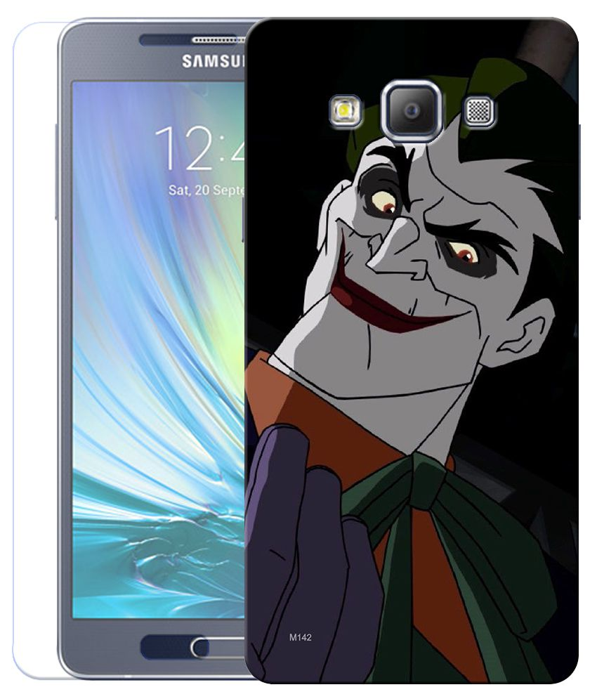 Finest Combo of Joker HD UV Printed Mobile Back Cover and Tempered Glass For Samsung Galaxy A5
