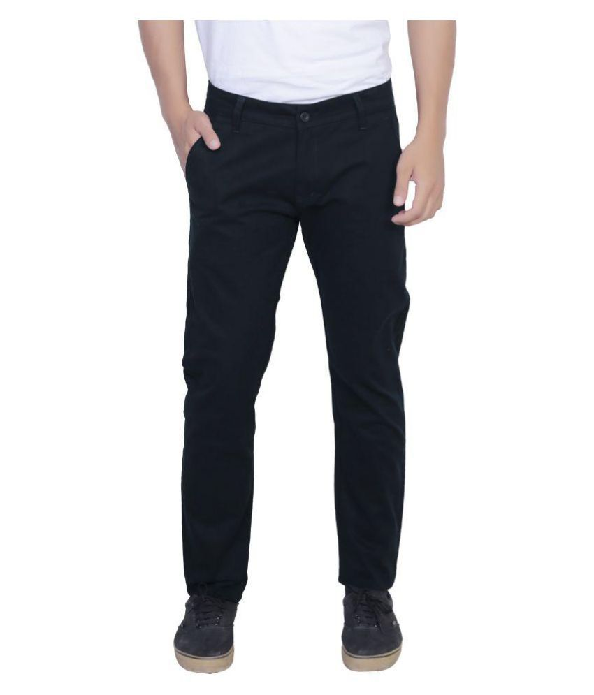 Nimegh Black Slim Flat Trouser