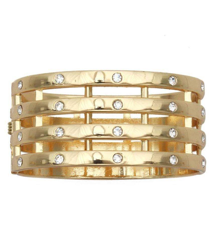 Zohar Cubiz Zirconia Studded Golden Bracelet