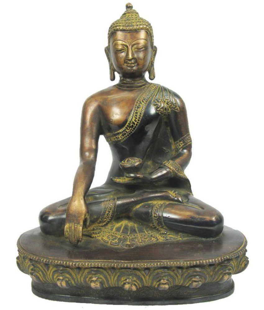 Indian Arts Museum Buddha Brass Idol