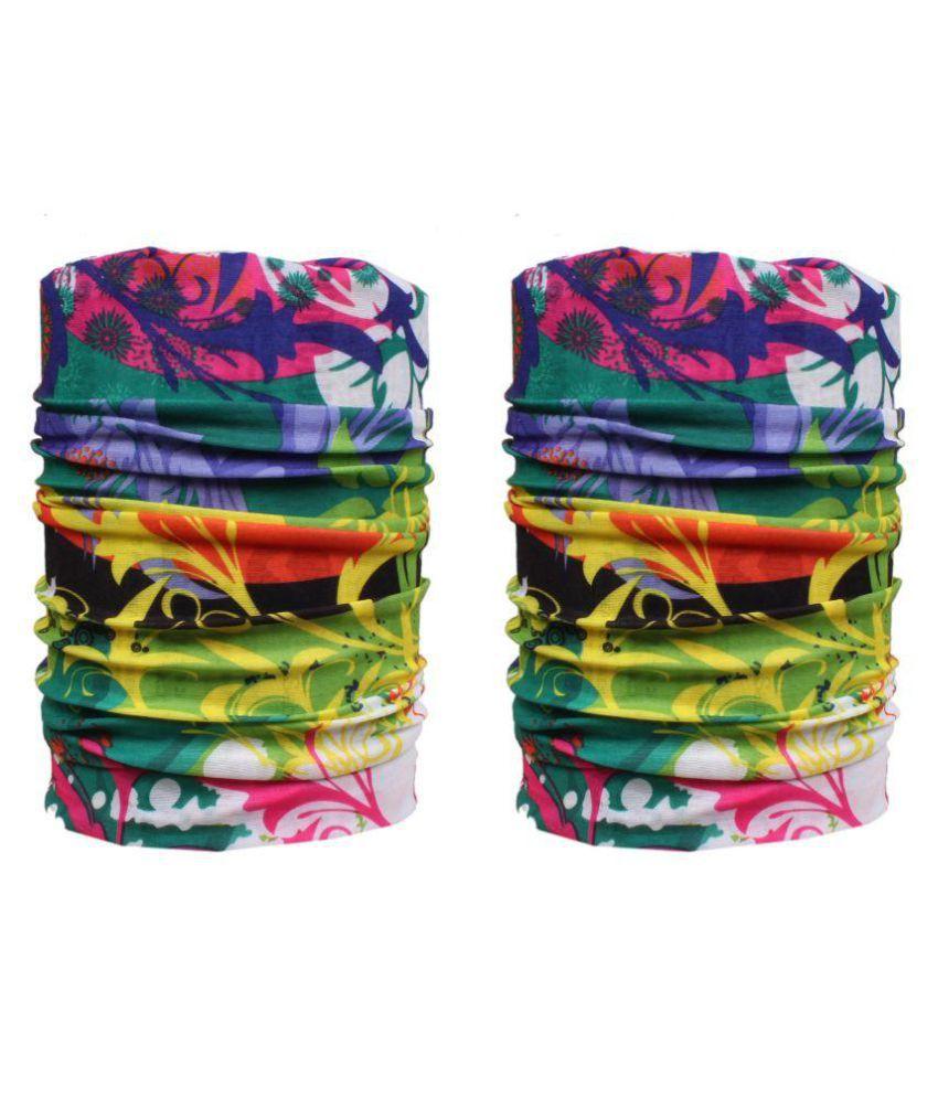 Jstarmart Multicolour Polyester Men's Headwrap - Pack of 2\n