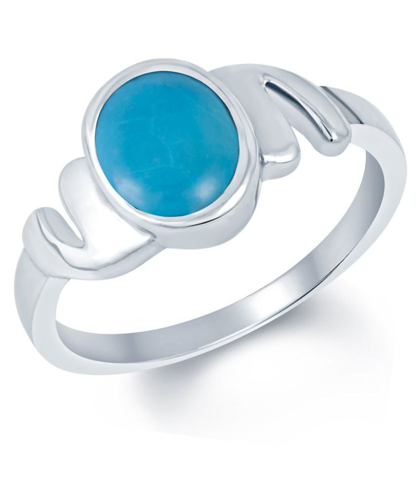 G-Luck 92.5 Silver Turquoise Ring