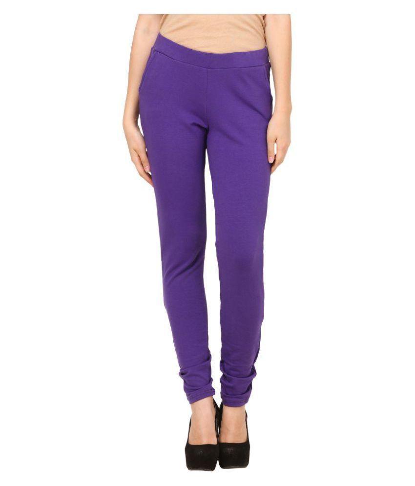 Pretty Angel Purple Lycra Jeggings