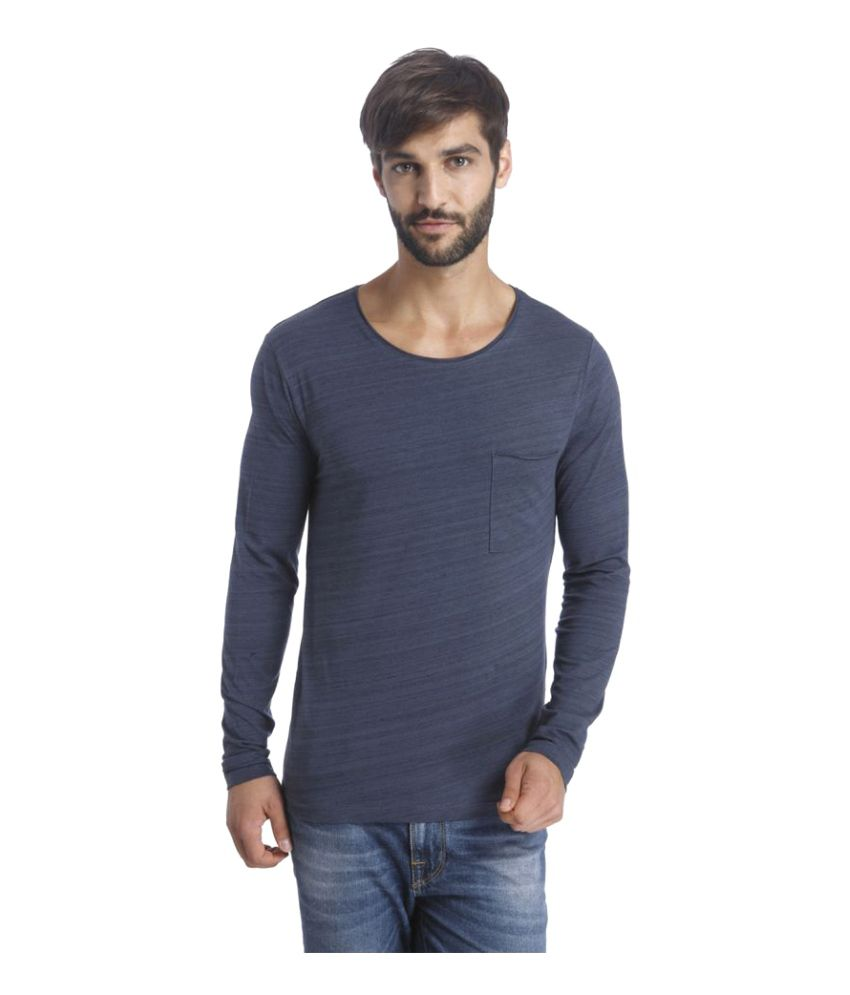 Selected Blue Round T-Shirt