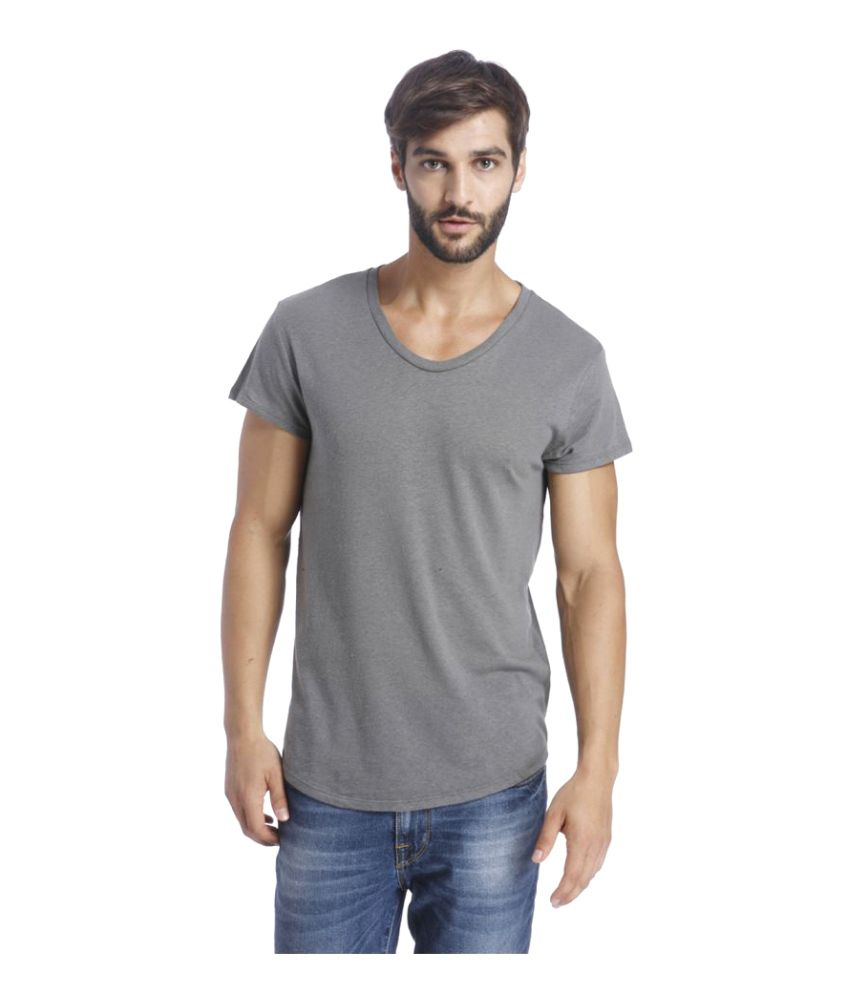 Selected Grey Round T-Shirt
