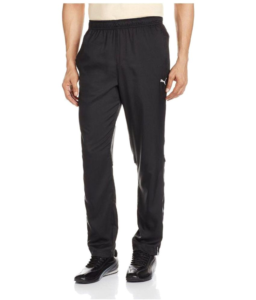 Puma Black Polyester Trackpant