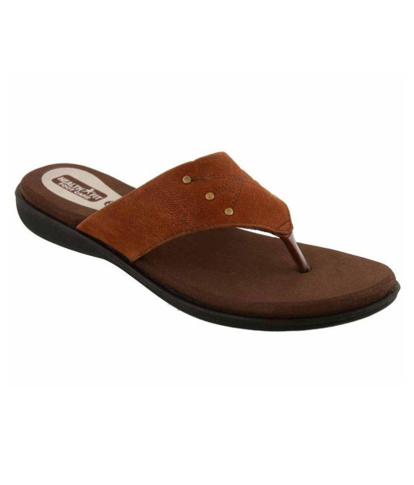 Health Fit Brown Slippers