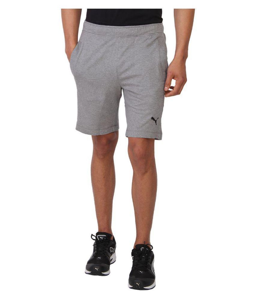 Puma Grey Cotton Shorts