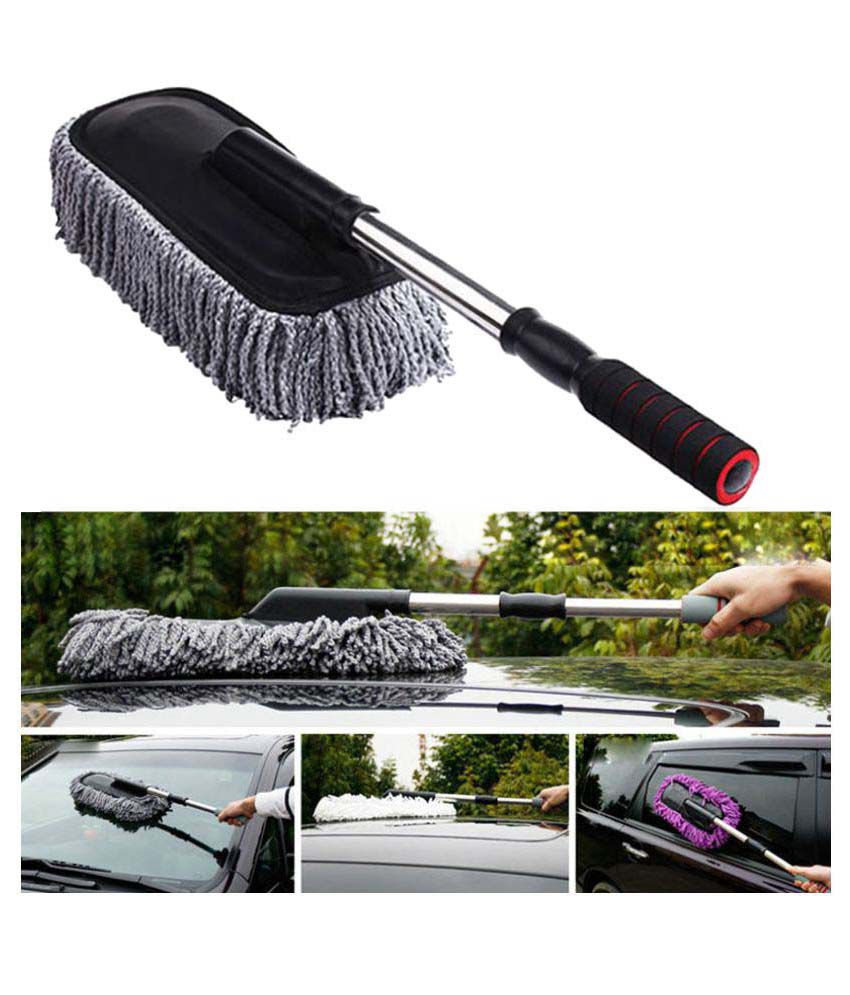 takecare grey car cleaning duster buy takecare grey car cleaning duster online at low price in. Black Bedroom Furniture Sets. Home Design Ideas