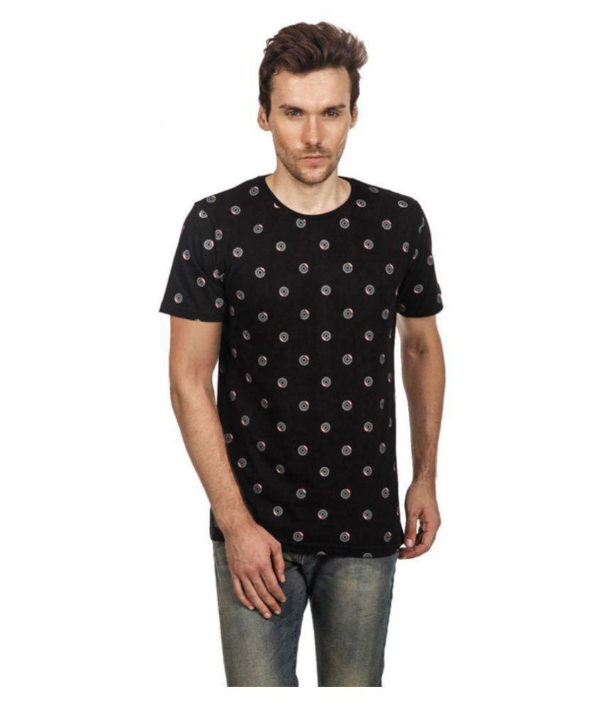 Den Of The Driver Black Round T-Shirt