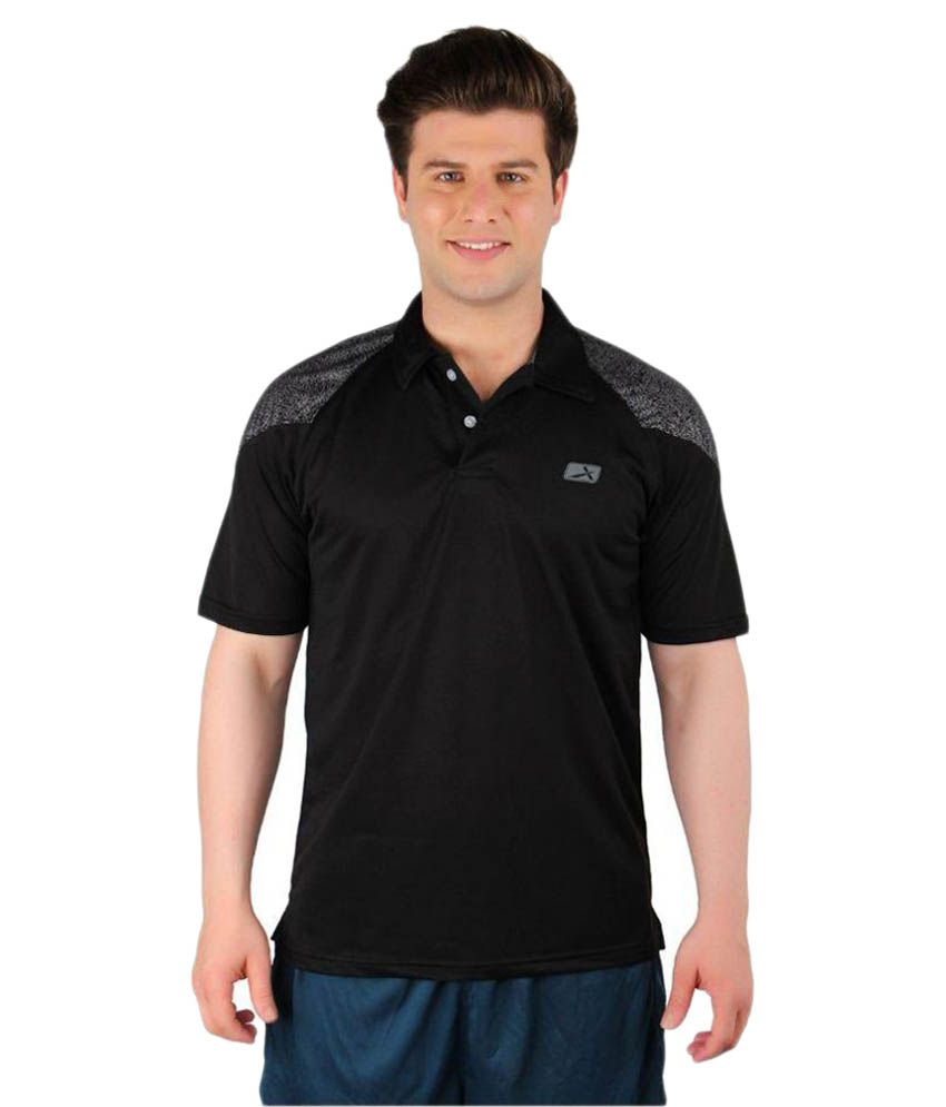 Vector X Black Polyester Polo T-Shirt Single Pack