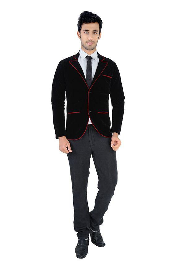 Nu Abc Garments Black Velvet Blazer