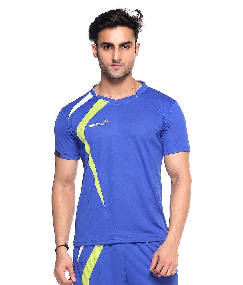 Sport Sun Blue Polyester T-Shirt Pack of 2