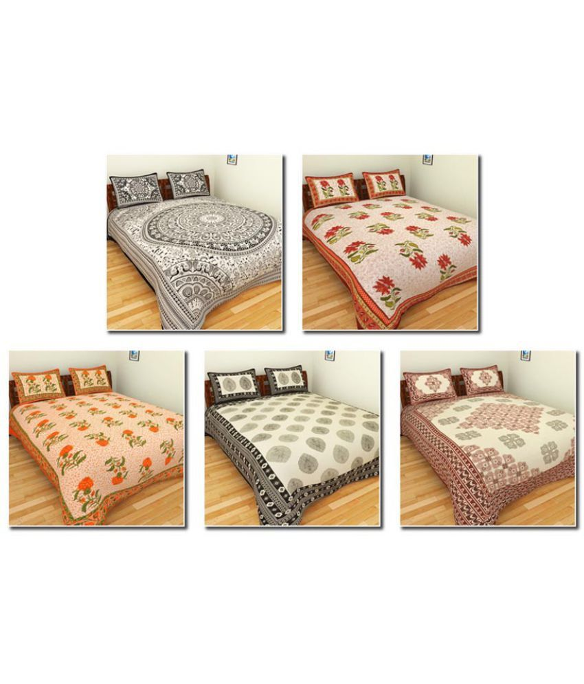 BleuIndus Double Cotton Ethnic Bedding Set