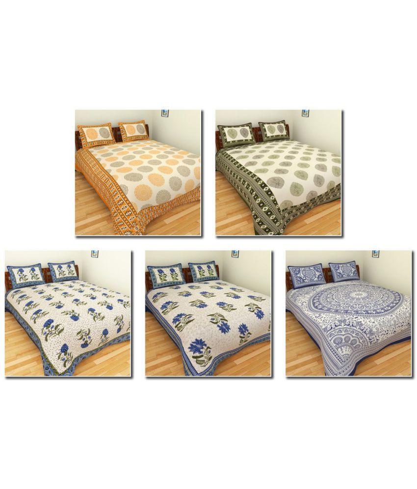 BleuIndus King Cotton Ethnic Bedding Set