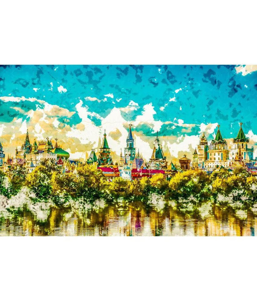 Artzfolio Gallery Canvas Hand Paintings With Frame Single Piece