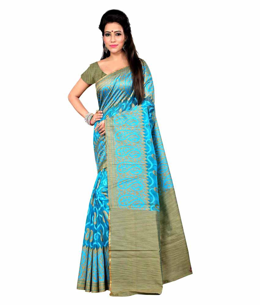 Envogue Blue Silk Saree