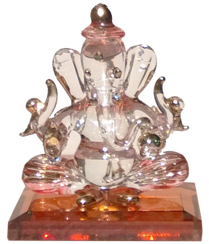 Mann Retails Ganesha Glass Idol
