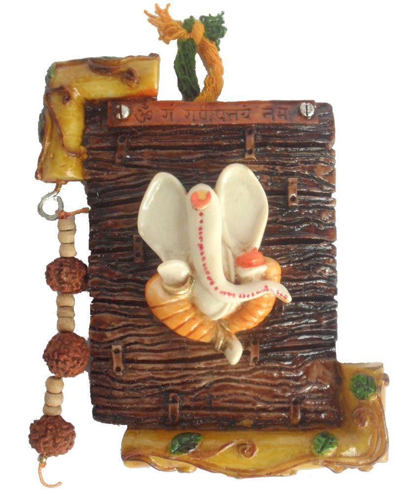 Sheela's Arts & Crafts Ganesha Resin Idol