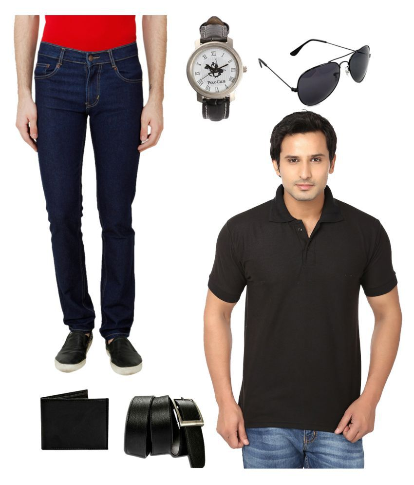 Ansh Fashion Wear Black Relaxed Solid