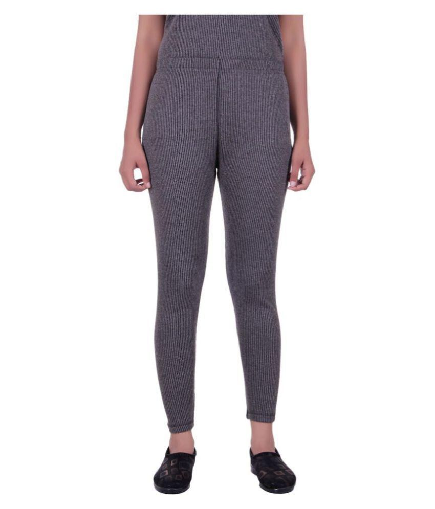 Laser X Gray Cotton Blend Bottomwear