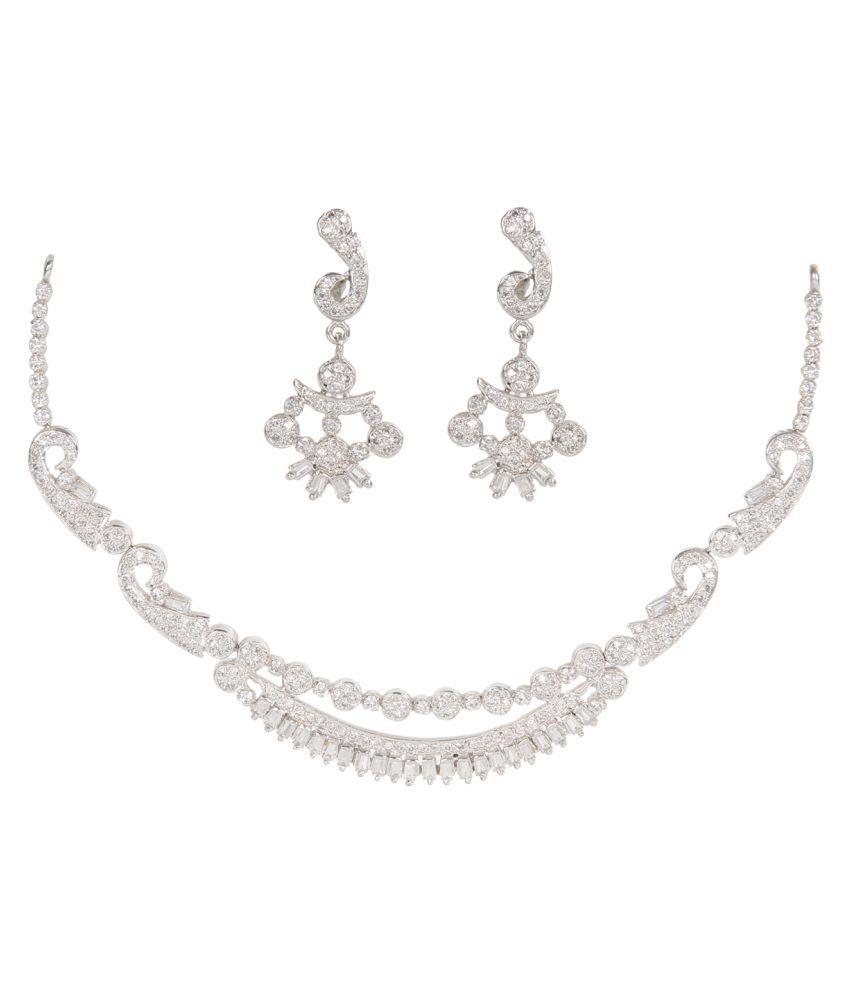 Silverwala 9k BIS Hallmarked Silver Necklace Set