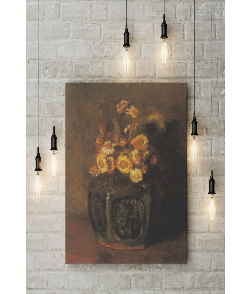 Canvs Ginger Jar Filled with Chrysanthemums, 1886 Wood Art Prints With Frame Single Piece