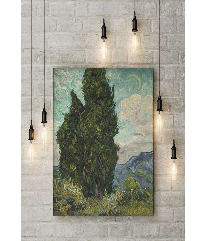 Canvs Cypresses, 1889 Wood Art Prints With Frame Single Piece