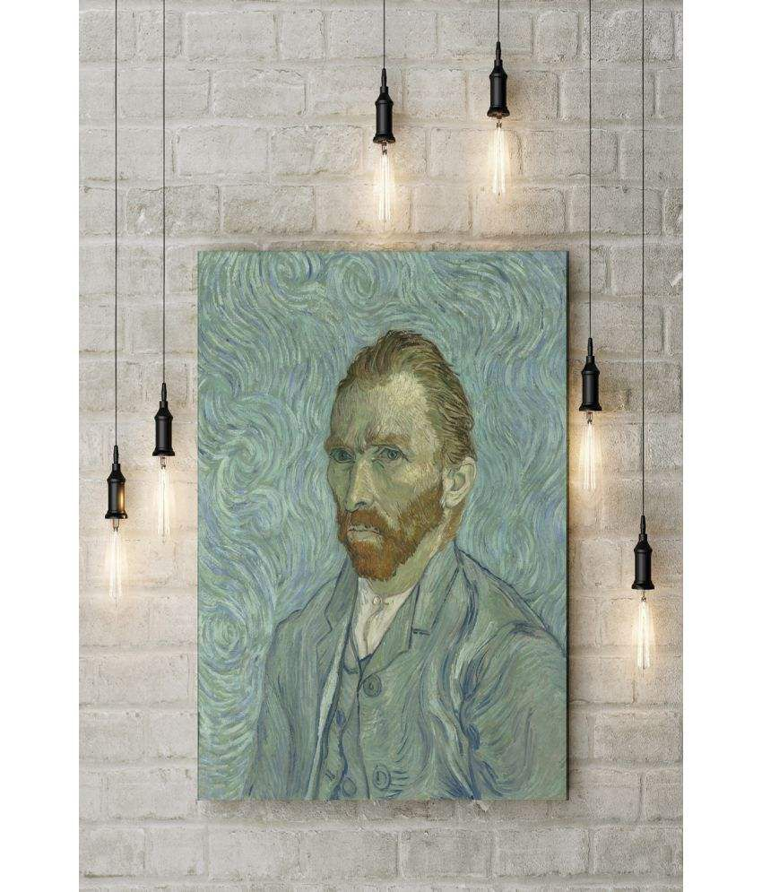 Canvs Self Portraits (Van Gogh) 1889 Wood Art Prints With Frame Single Piece