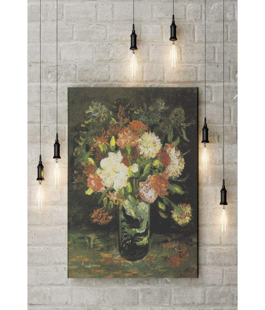 Canvs Vase with Carnations, 1886 Wood Art Prints With Frame Single Piece
