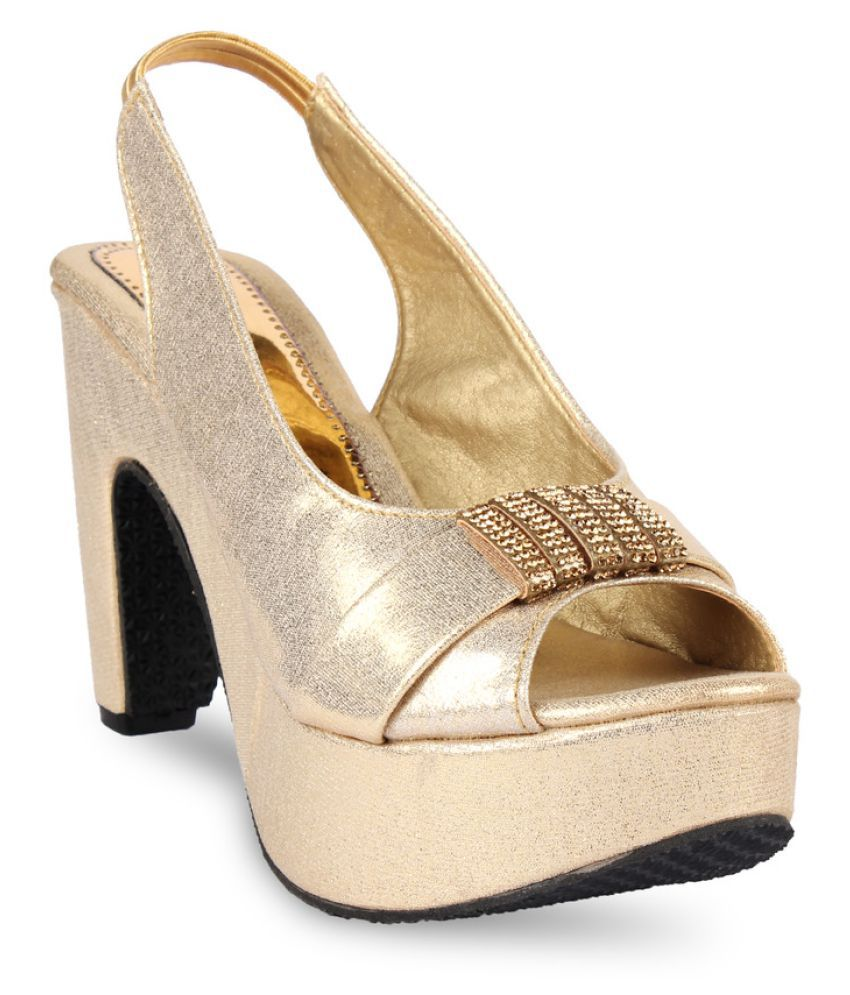 Anand Archies Gold Cone Heels