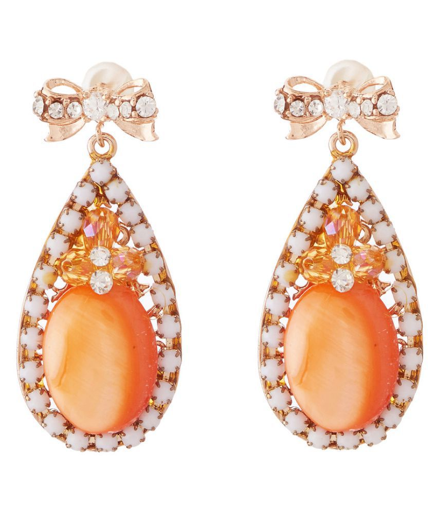 Jazz Jewellery Orange Drop Earrings