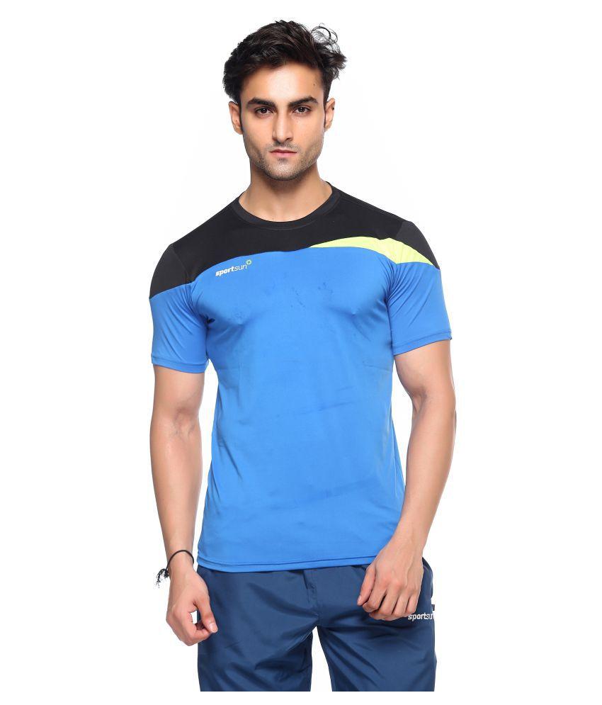 Sport Sun Blue Polyester T-Shirt Single Pack