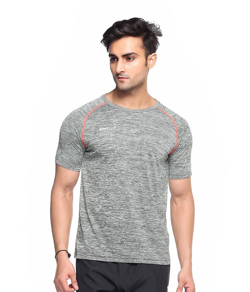 Sport Sun Grey Polyester T-Shirt Single Pack