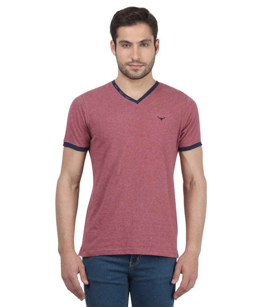 Buffalo By Fbb Purple Solid Slim Fit Shirt