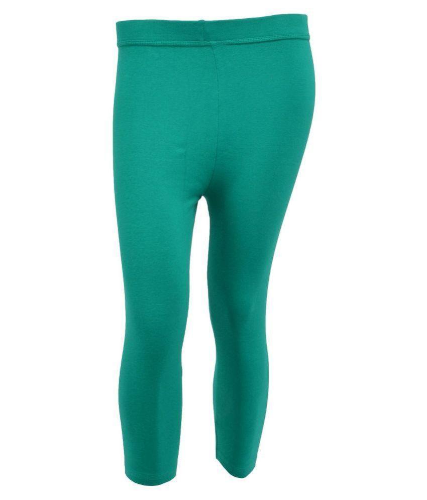 Tanus Green Cotton Capri