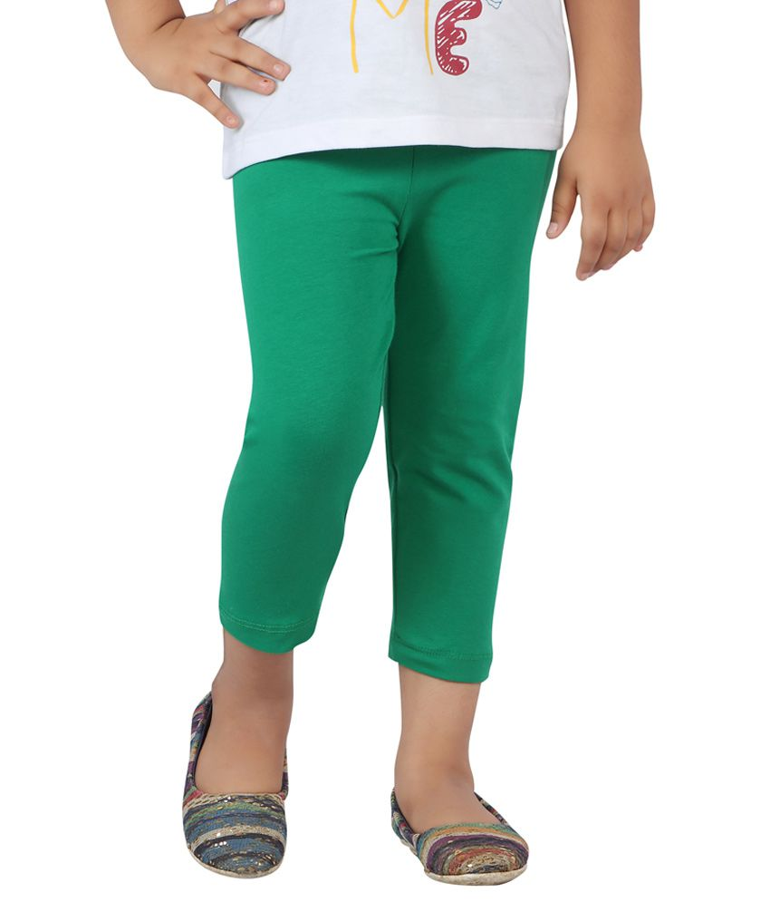 Pink & Blue By Fbb Green Capris