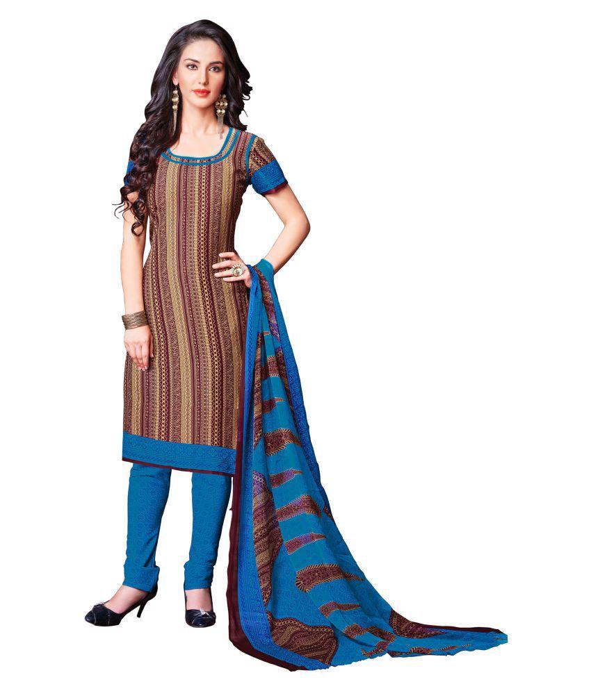 KalashreeFashion Multicoloured Crepe Dress Material