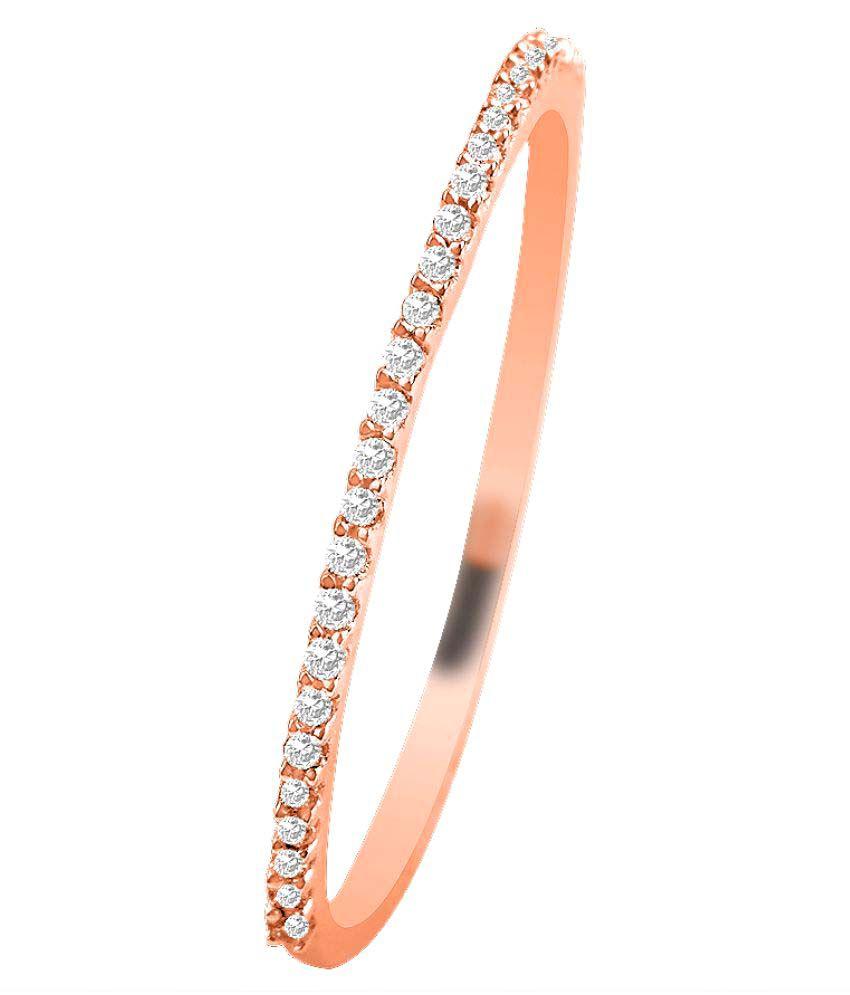 Sparkles 10K Rose Gold Diamond Ring