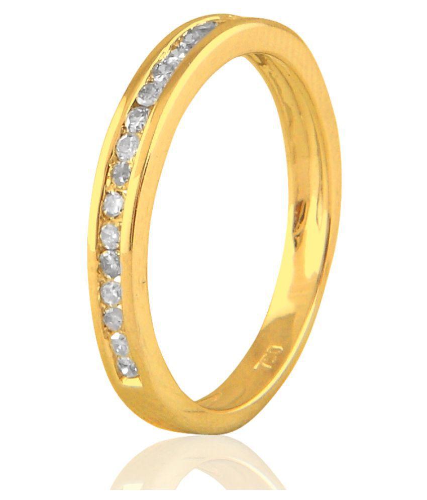 Sparkles 14K Yellow Gold Diamond Ring