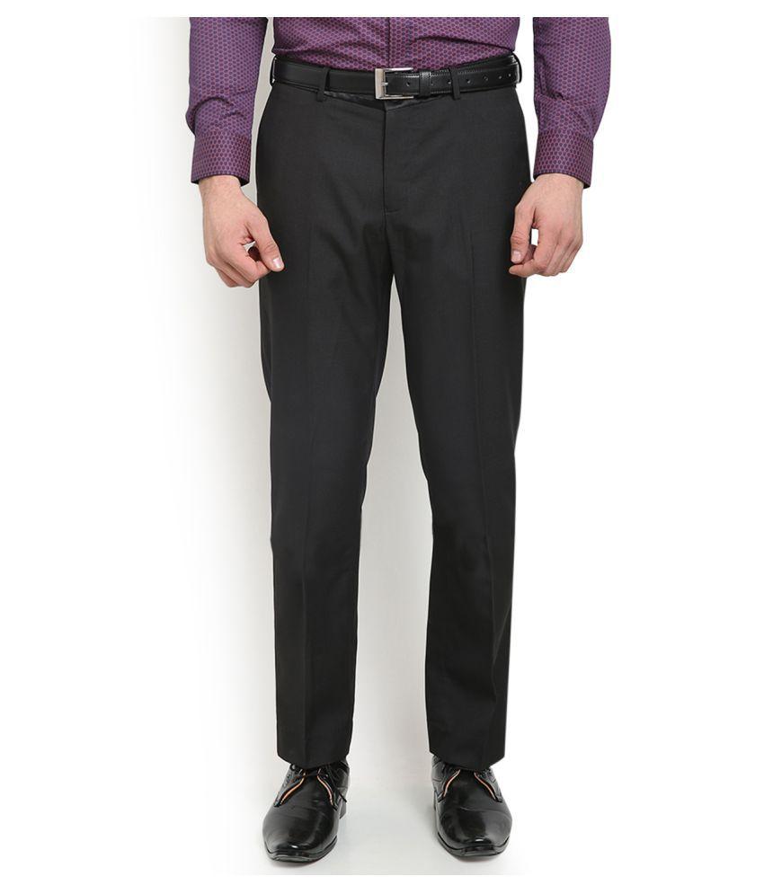 Blackberrys Black Regular Flat Trouser